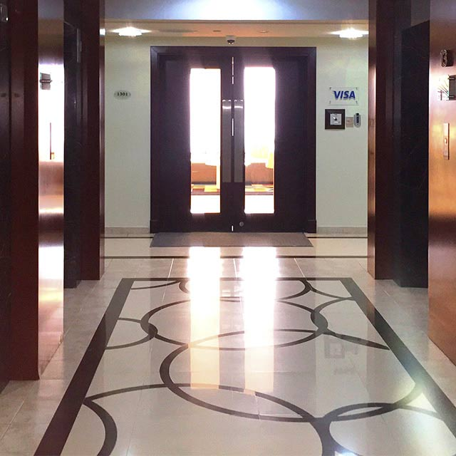 The entrance to the Dubai Innovation Center.